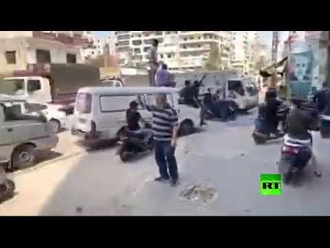 شاهد احتجاج بالسيارات ضد ارتفاع الأسعار في بيروت