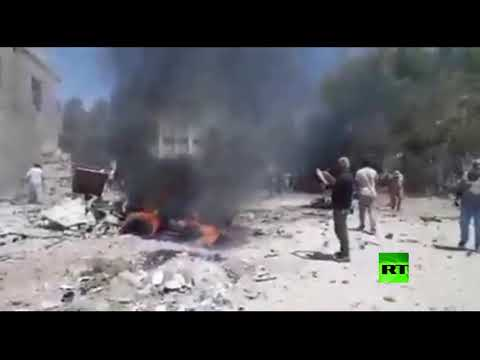 شاهد تفجير سيارة مففخة في مدينة رأس العين السورية