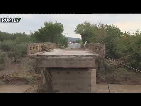 شاهد عاصفة إيانوس تضرب ساحل اليونان الغربي وتُخلّف ضحايا