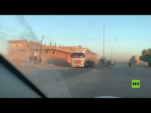 شاهد أضخم قافلة للتحالف الدولي تدخل شمال شرق سورية في العام الجديد
