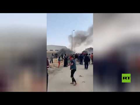 شاهدلقطات جديدة من حريق قاتل في مصنع العبور في مصر