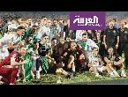 شاهد رياض محرز يثير الجدل أثناء تتويج الجزائر بكأس الأمم الأفريقية