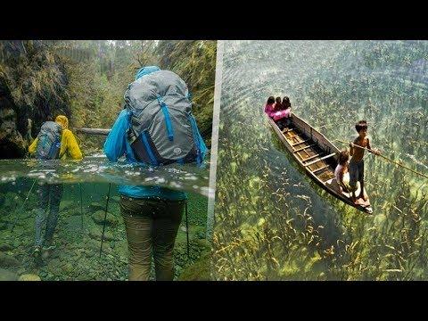10 أماكن مدهشة تبدوا فيها المياه شفافة تمامًا