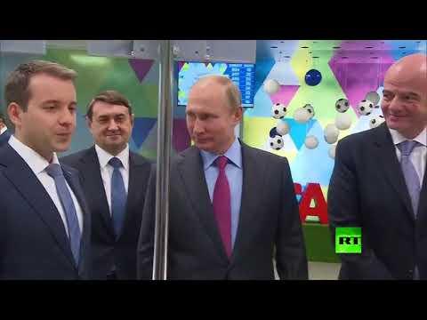 بوتين وإنفانتينو يحصلان على بطاقة هوية المشجع