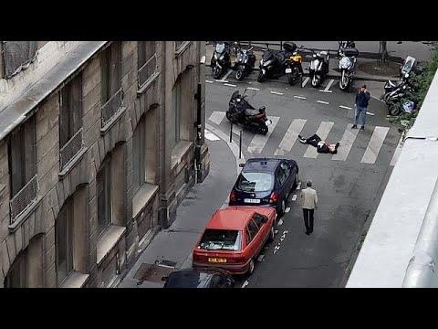 شاهد اللقطات الأولى من موقع عملية طعن المارة وسط باريس