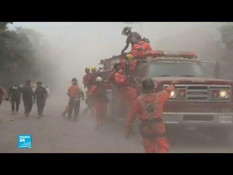 خوف وهلع بعد انفجار بركان النار في غواتيمالا