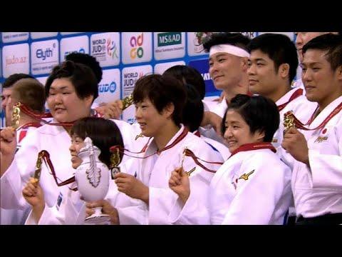 شاهد اليابان تحتلّ صدارة الترتيب في بطولة العالم بباكو