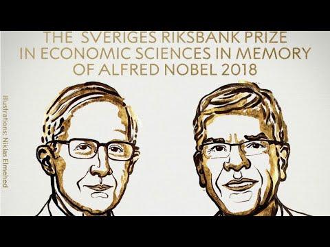 الأميركيان وليام نوردهاوس وبول رومر يفوزان بجائزة نوبل للاقتصاد