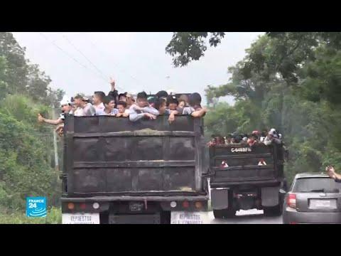 شاهد ترامب يهدد بنشر الجيش الأميركي على الحدود المكسيكية