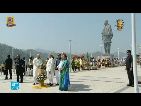 شاهد التفاصيل الكاملة لتدشين أطول تمثال في العالم وأسرار صاحبه