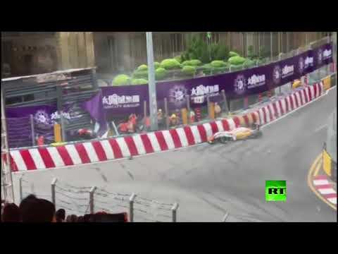 شاهد الألمانية سوفيا فلورش تتعرض لحادث مروع خلال مشاركتها في سباق ماكاو