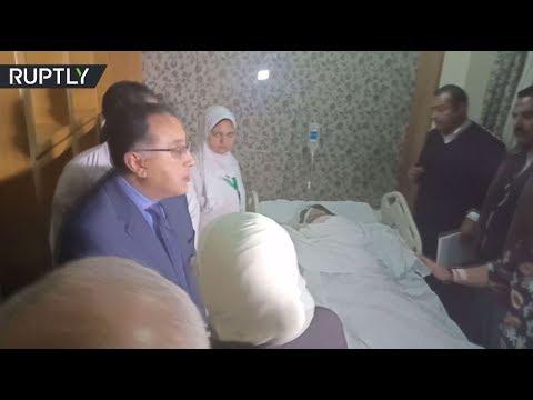 شاهد  مصطفى مدبولي يزور الجرحى الفيتناميين في المستشفى