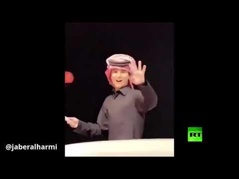 شاهد نجل أمير قطر يحتفل بالتأهل إلى نهائي كأس آسيا