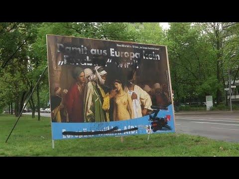 شاهد حزب ألماني يميني متطرف يستغل لوحة لفنان شهير لحملته الانتخابية