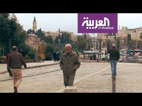 شاهد  شارع السلطان سليمان المحاذي لأسوار القدس القديمة