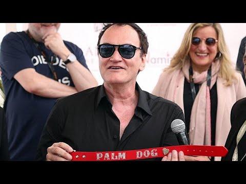 شاهد فيلم المخرج تارانتينو يفوز بجائزة سعفة الكلب في مهرجان كان