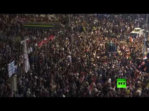 شاهد تظاهرات في بغداد ضد أداء الحكومة والبرلمان