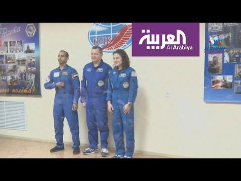شاهد أول رائد فضاء إماراتي يصل إلى المحطة الدولية
