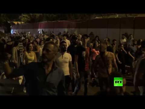 شاهد تظاهرات في العاصمة اللبنانية وأنباء عن إطلاق نار