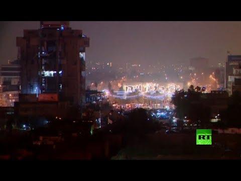 شاهد مباشر من ساحة التحرير وسط العاصمة العراقية بغداد