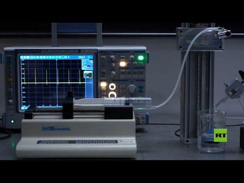 شاهد توليد الكهرباء من قطرة ماء فقط