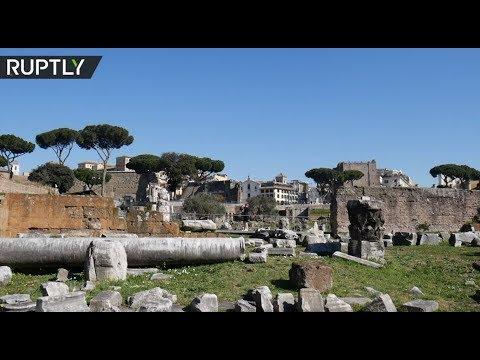 شاهد اكتشاف تابوت حجري أثري لمؤسس روما الأسطوري