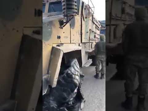 شاهد لحظة استهداف الجنود الأتراك بغارة جوية في إدلب