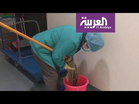 شاهد عمال التنظيف الجندي المجهول في الصفوف الأولى للحرب مع كورونا