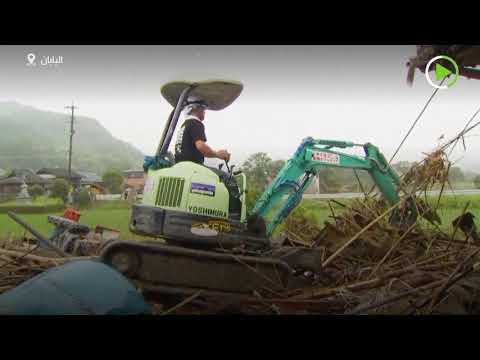 شاهد أكثر من 60 قتيلًا ومئات العالقين بسبب الانزلاقات الأرضية في اليابان