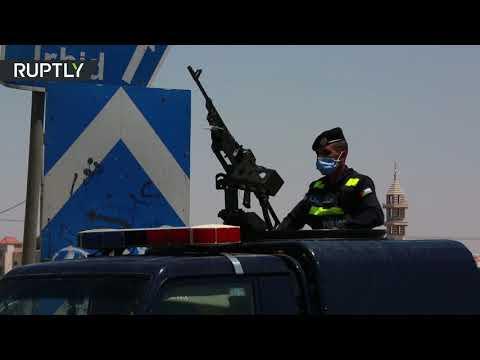 شاهد السلطات الأردنية تفرض حظرًا شاملًا على مدينة الرمثا