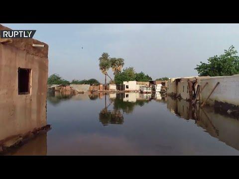 شاهد لقطات جديدة تُظهر آثار ارتفاع مناسيب النيل في السودان