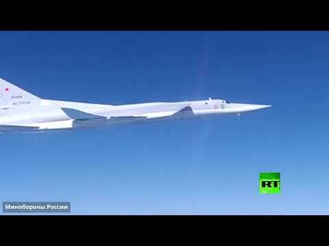 شاهد دورية لقاذفات القنابل الروسية فوق المياه المحايدة للبحر الأسود