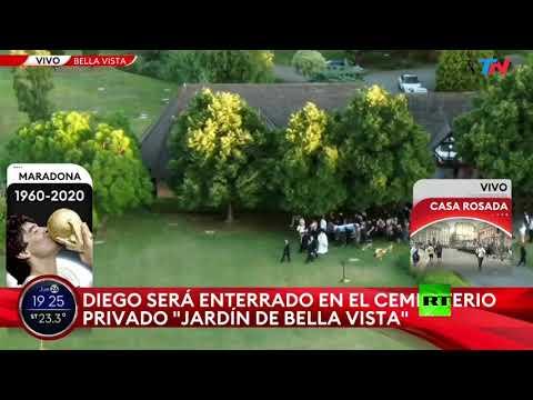 شاهد دفن مارادونا بالقرب من قبري والديه خلال مراسم خاصة جدًا