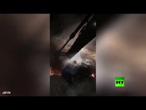 شاهد خروج النار من الأرض في محافظة مصرية