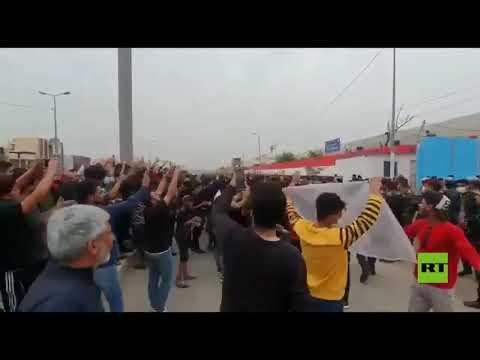 شاهد الاحتجاجات الشعبية تتجدد في العراق