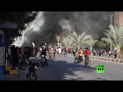 شاهد تجدد الاحتجاجات في النجف العراقية مطالبة بإقالة المحافظ